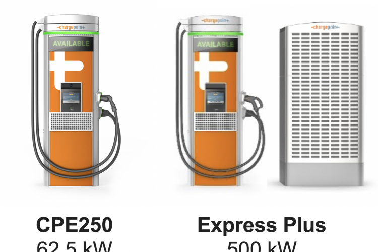 commercial EV chargers